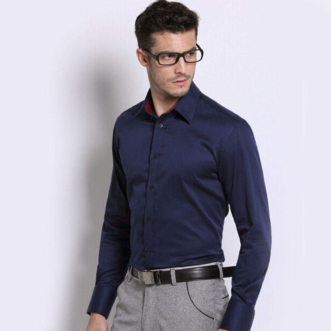 45+ Dark blue dress shirt info