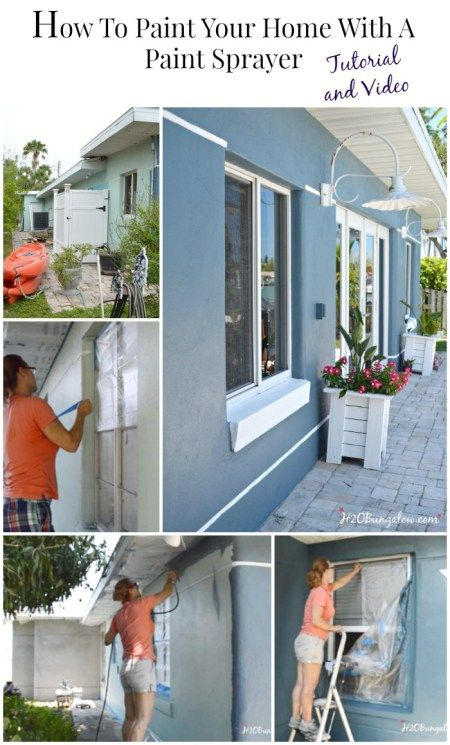 how to paint your home with a paint sprayer pinterest house