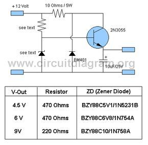 12v To 4 5v 6v 9v Converter Circuitdiagram Org Power Supply Circuit Electronic Schematics Converter