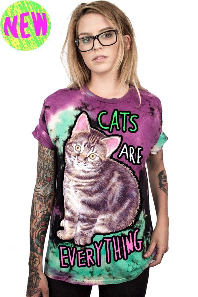 5a4c45859e22a0 CATS ARE EVERYTHING - CUSTOM UNISEX TIE DYE