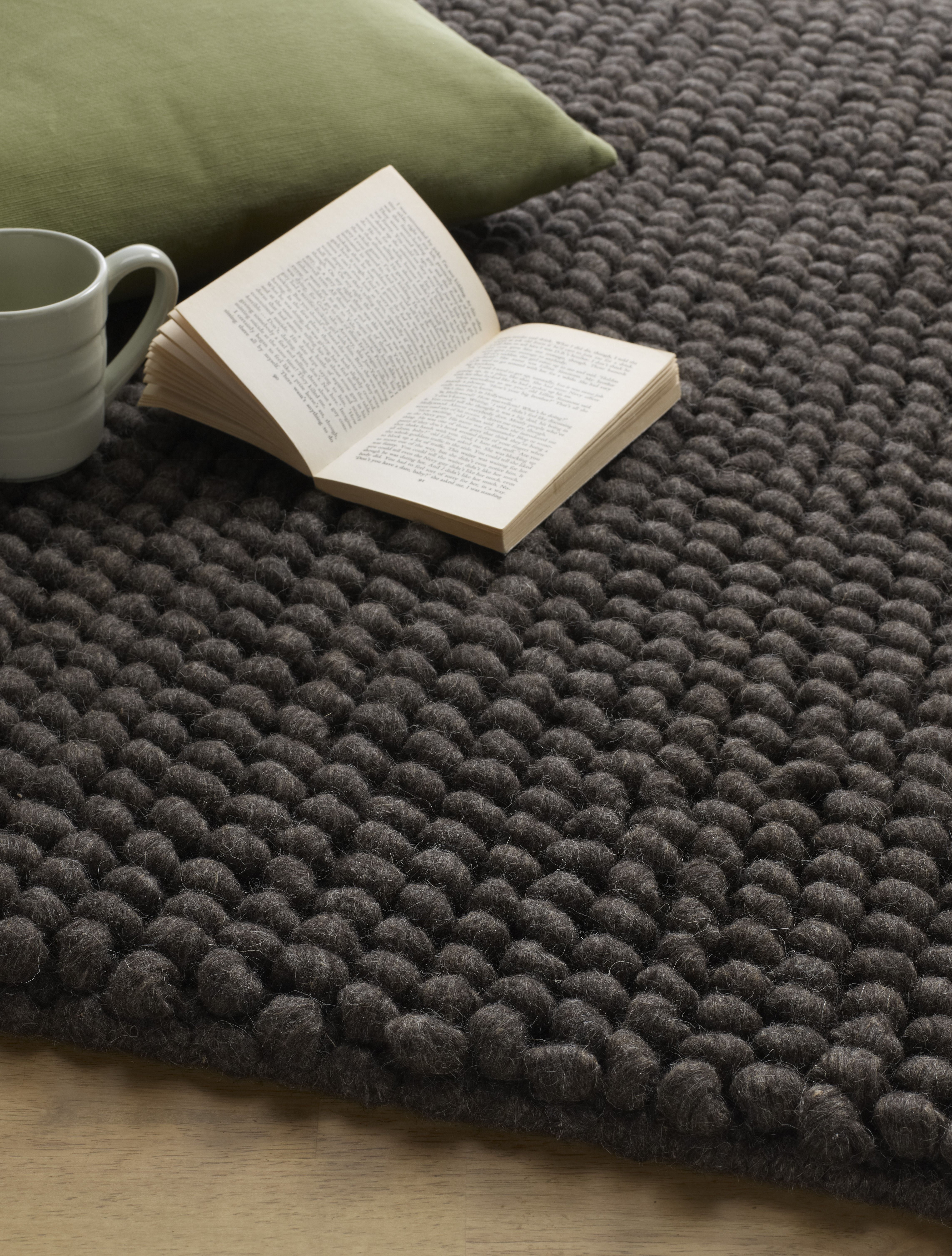 Pebbles Charcoal By Jacaranda Hand Woven Rugs Carpets Supplied Dible And Roy 01225 862320