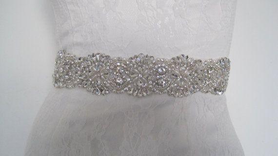 Rhinestone wedding belt sash, crystal bridal sash,bridal belt wedding belt,bryn