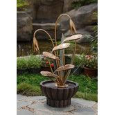 Found it at Wayfair - Polyresin and Fiberglass Leaves Water Fountain