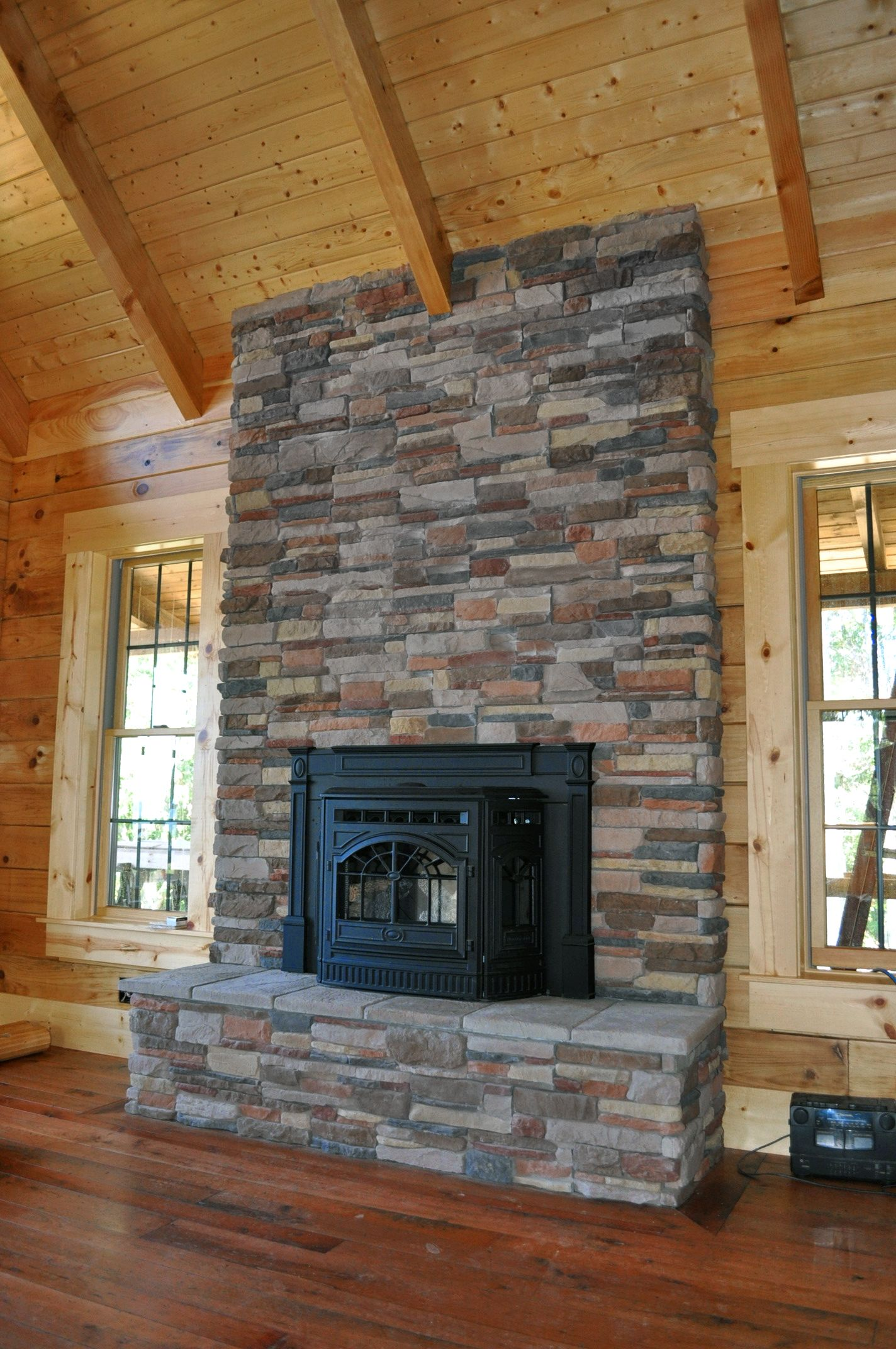 M Rocks P Series Aspen Ledge Stone Fireplace