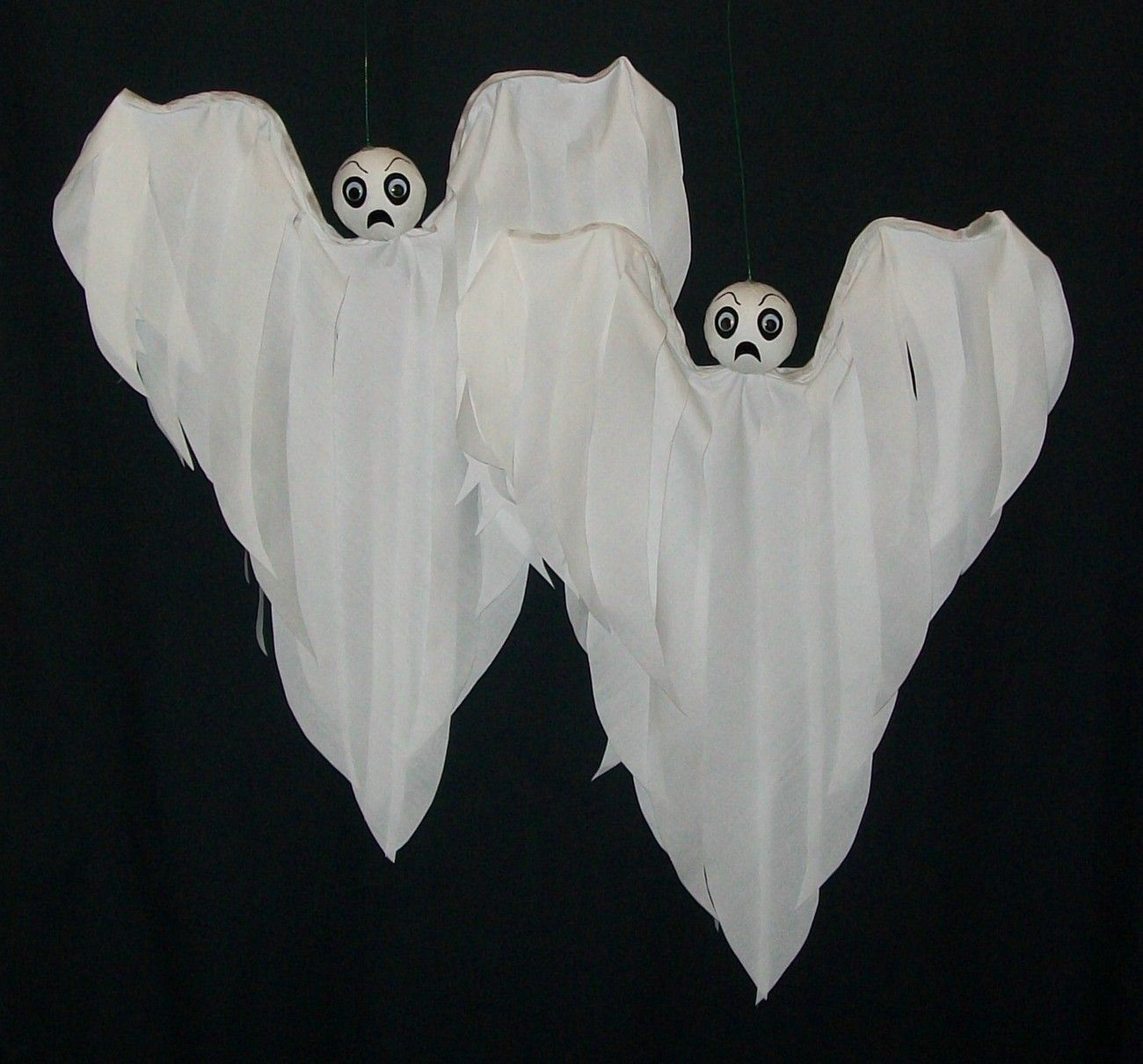 Halloween Decoration Ghost Hanging Baby Boo Flyers Halloween via - Halloween Ghost Decorations
