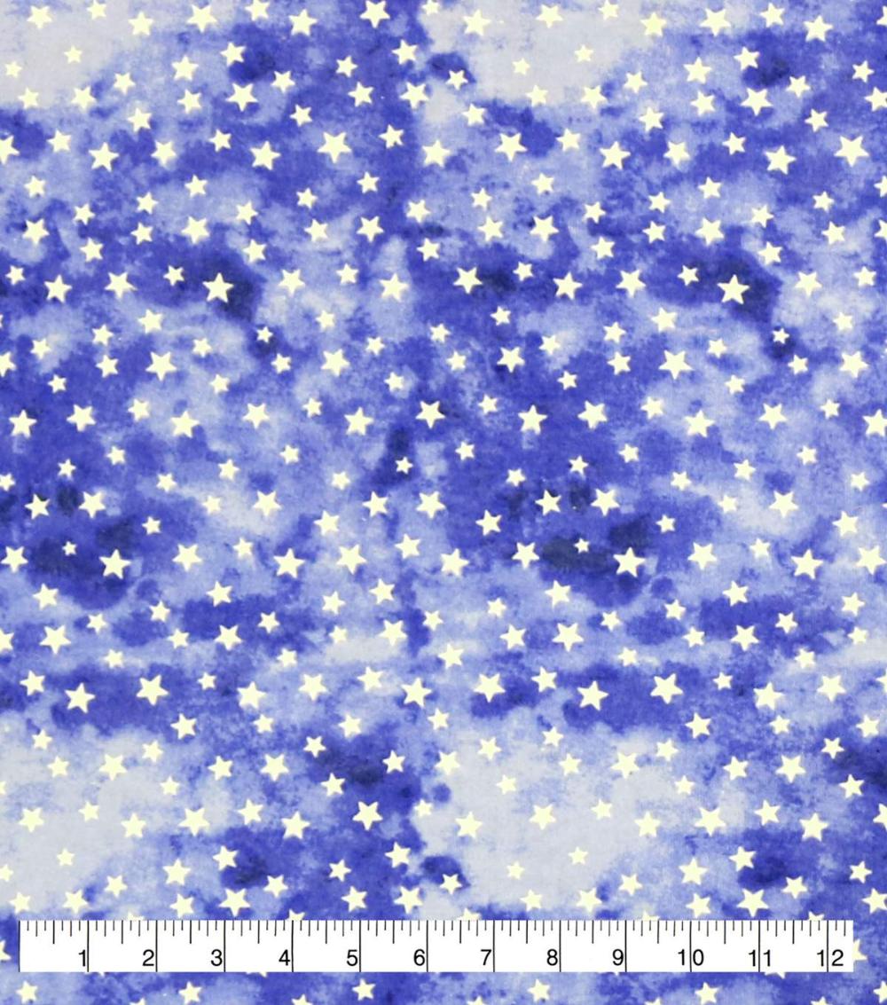 Snuggle Flannel Fabric Blue Purple Watercolor