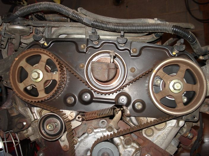 water pump with spring tension   Toyota   Timing belt