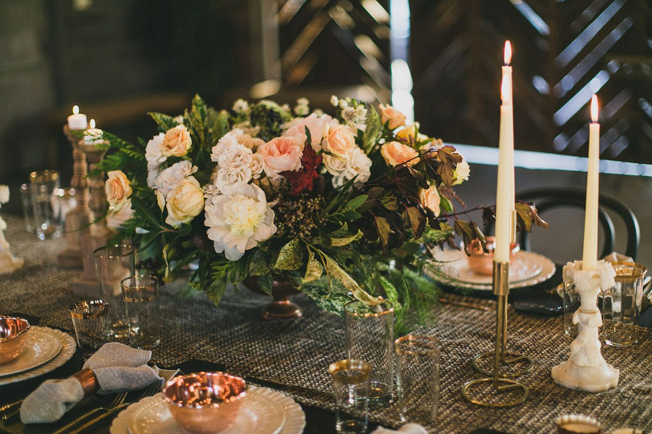 Garden party inspiration  A Cozy Copper  Rose Gold Dinner Party  Fun events Dinners and