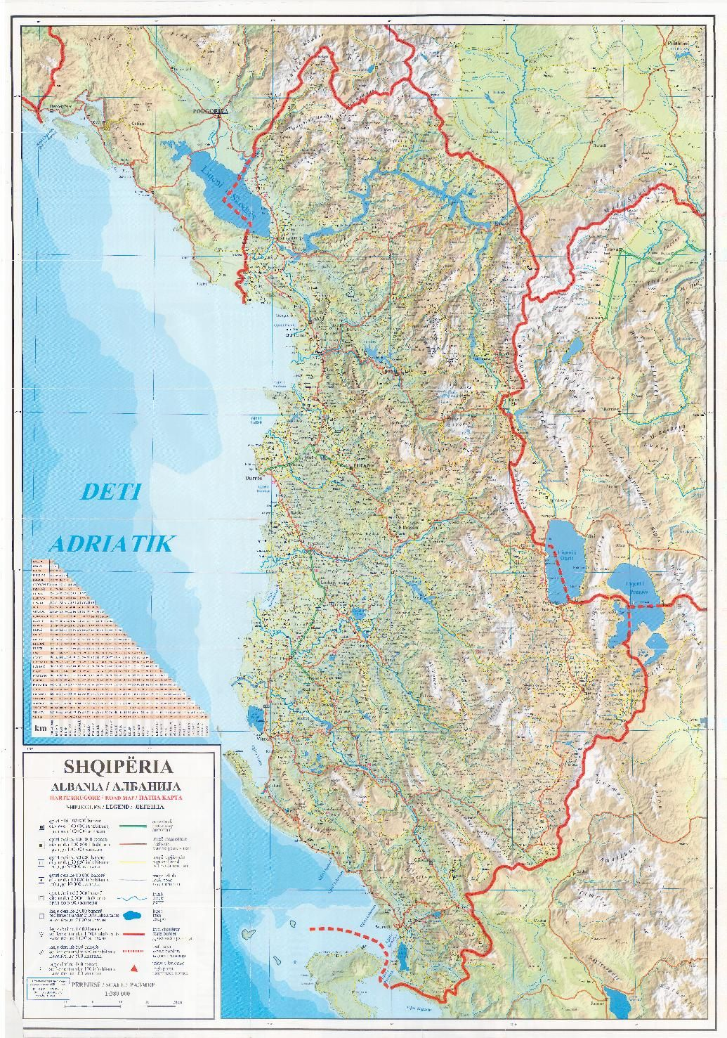 Road map Albania BIG Albania