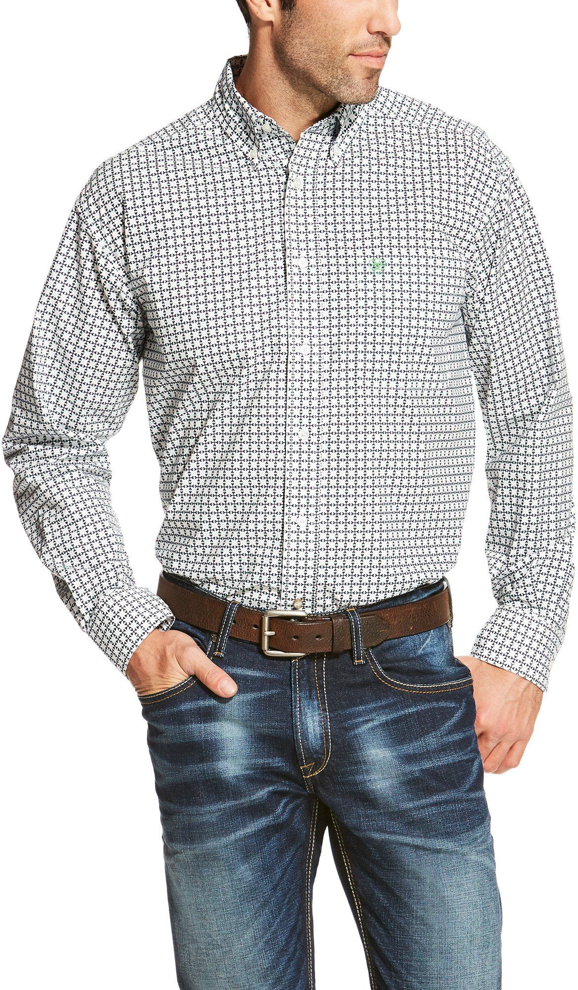 f802701c5900 Ariat Mens Odessa Long Sleeve Print Shirt