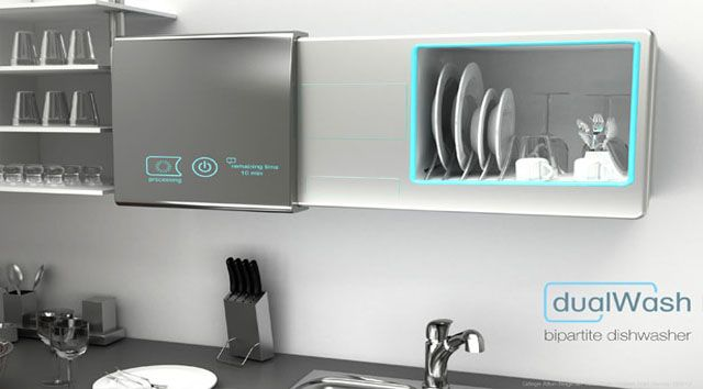 » Concept Dishwasher and cupboard two in one Future