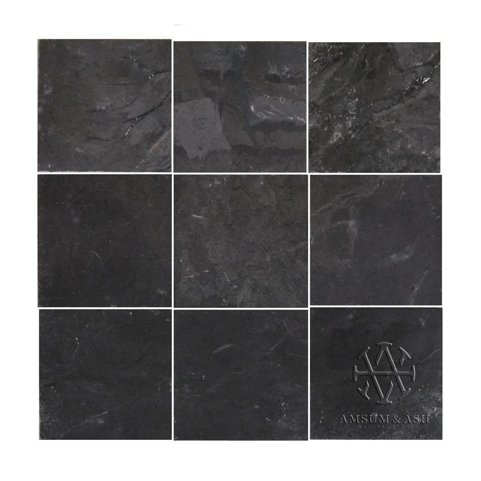Jack Black Natural Cleft 12 X 12 Black Slate Tiles Quartz Countertops Outside Flooring