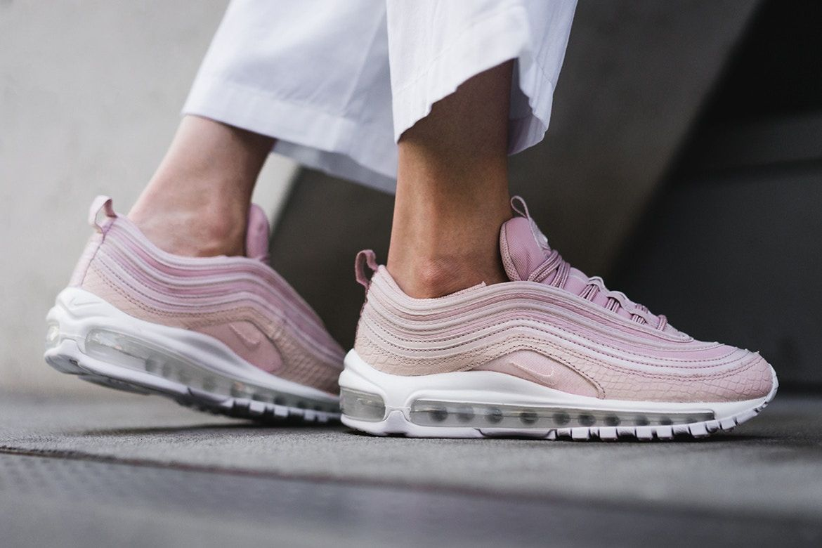 air max 97 particle beige on feet