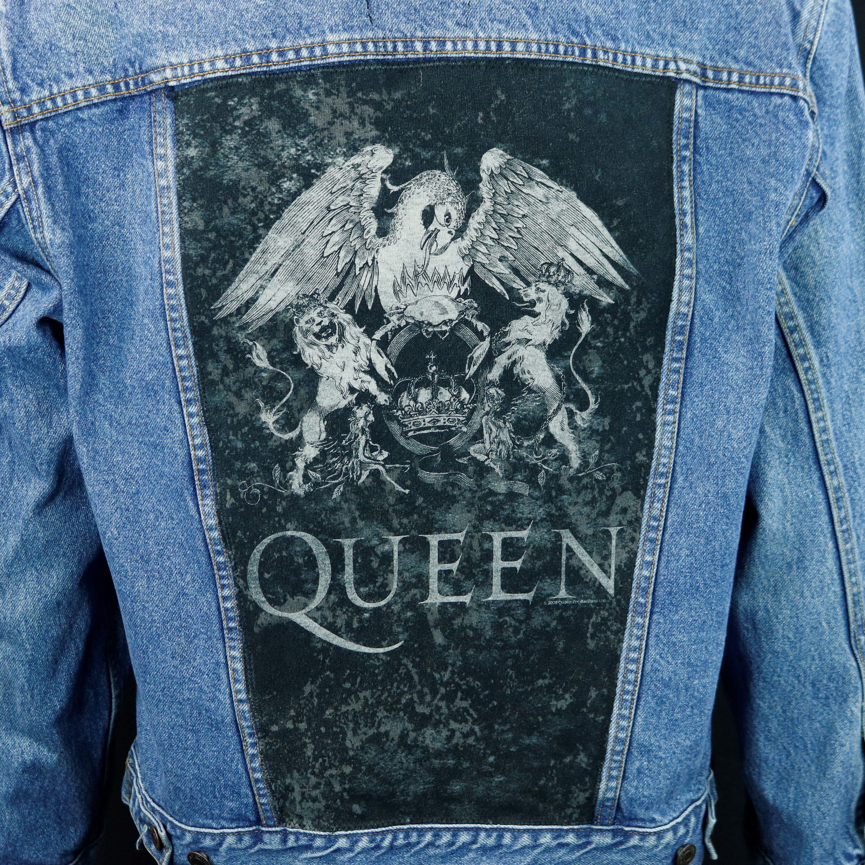 c361019c126 QUEEN Band Levis Denim Jacket Blue Jean Freddie Mercury Men's Medium ...