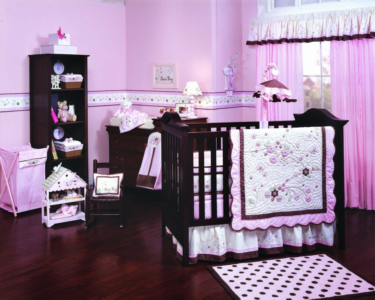 Blue and brown bedding for girls - Purple Crib Bedding Sets
