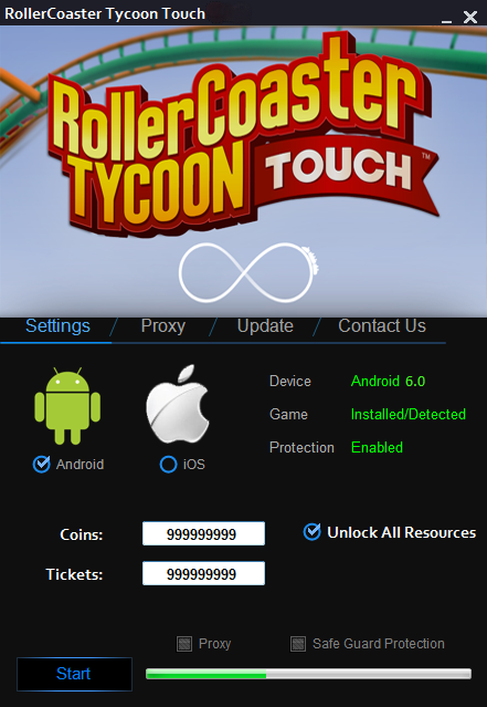 free roller coaster tycoon touch hack, free rollercoaster tycoon
