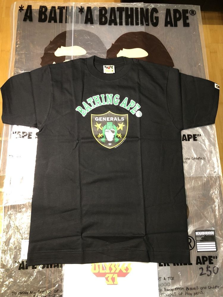 2ef11ea1a2be A Bathing Ape Generals T-shirt BAPE Tee Size Medium  BAPE  GraphicTee