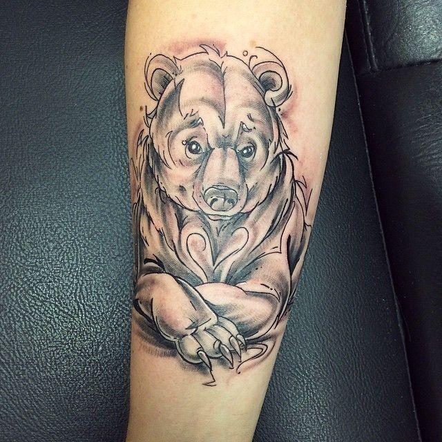 Bear-Tattoo-Design-Baer-031 #tattoo #tätowierung #kunst #