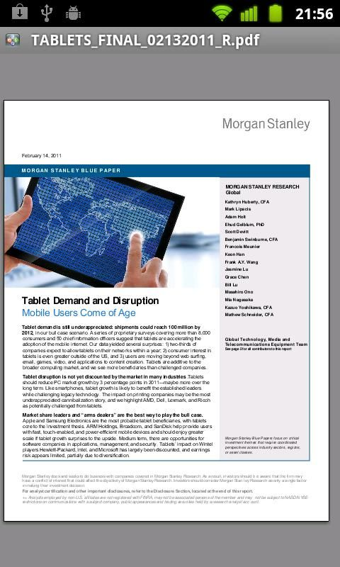 Morgan Stanley Research - screenshot | DashApp | Morgan