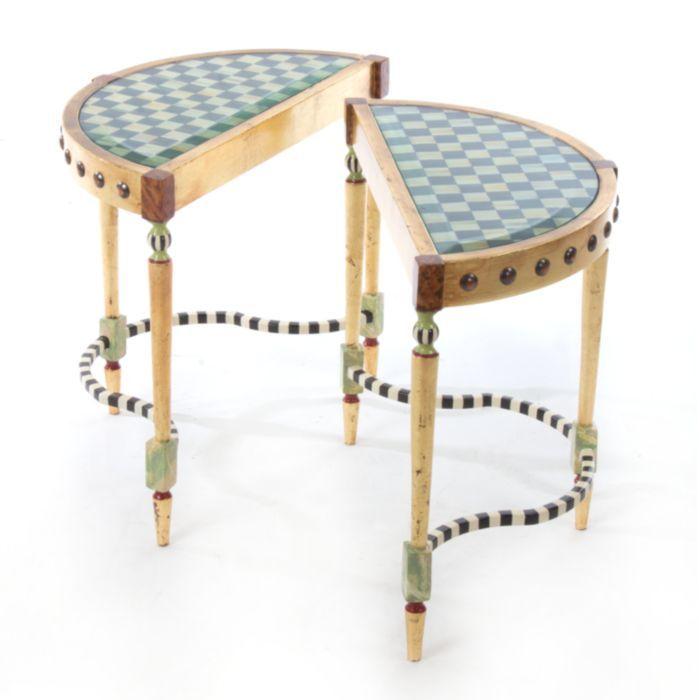 MacKenzie-Childs - Tra La La Bunching Tables - Set of 2