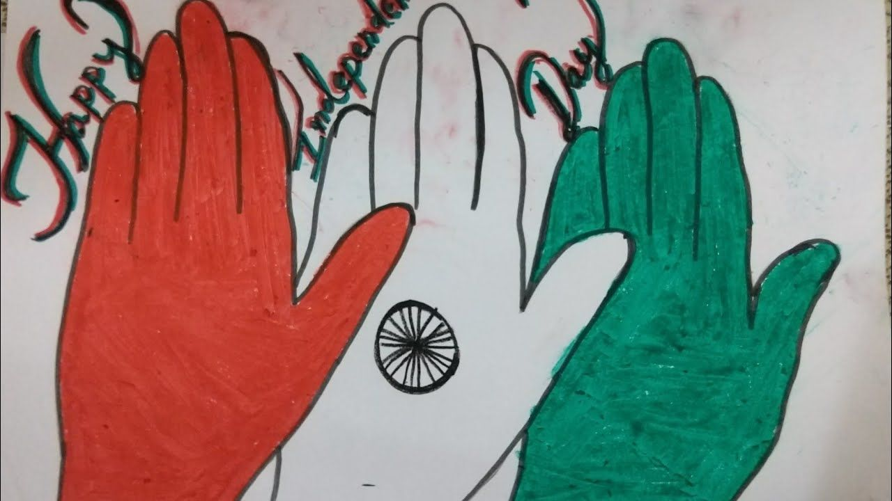 Simple And Beautiful Independence Day Drawing For Kids Independence Day Independence Day Drawing Drawing For Kids Indian Independence Day