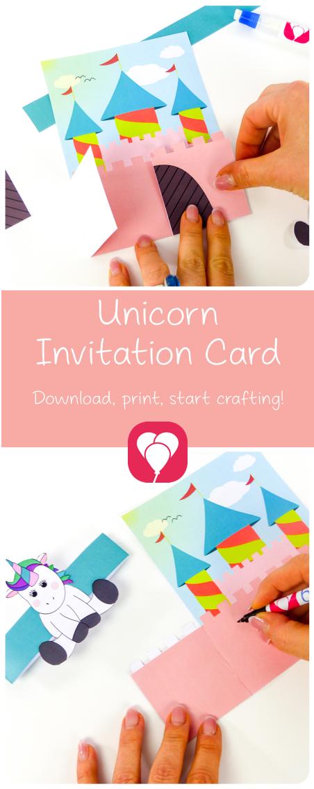 lovely unicorn invitation card use our unicorn invitation