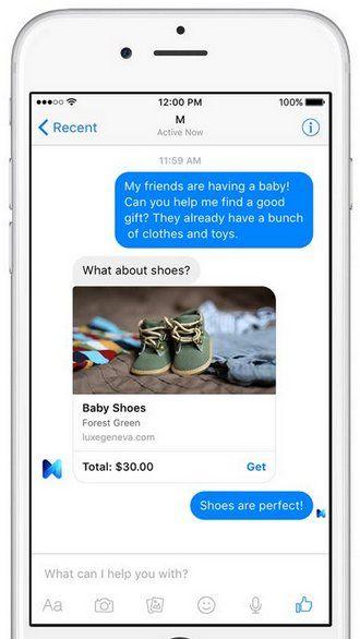 Facebook anuncia M, asistente personal tipo Cortana o Siri que trabaja dentro de Messenger