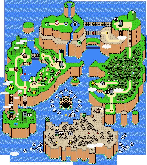 Super Mario World Map Super Mario World Super Mario Bros Mario Nintendo