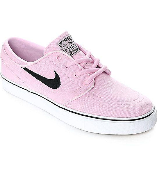 Nike SB Stefan Janoski Black Canvas Kids Skate Shoes Black, Womens Skate Shoes Skate Shoes, Womens