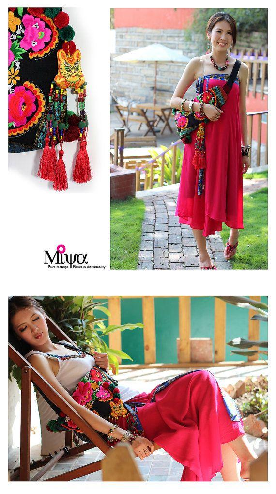Originales étnicas MiyasEthnicBags POR Hmong Bolsa bordada de Miya