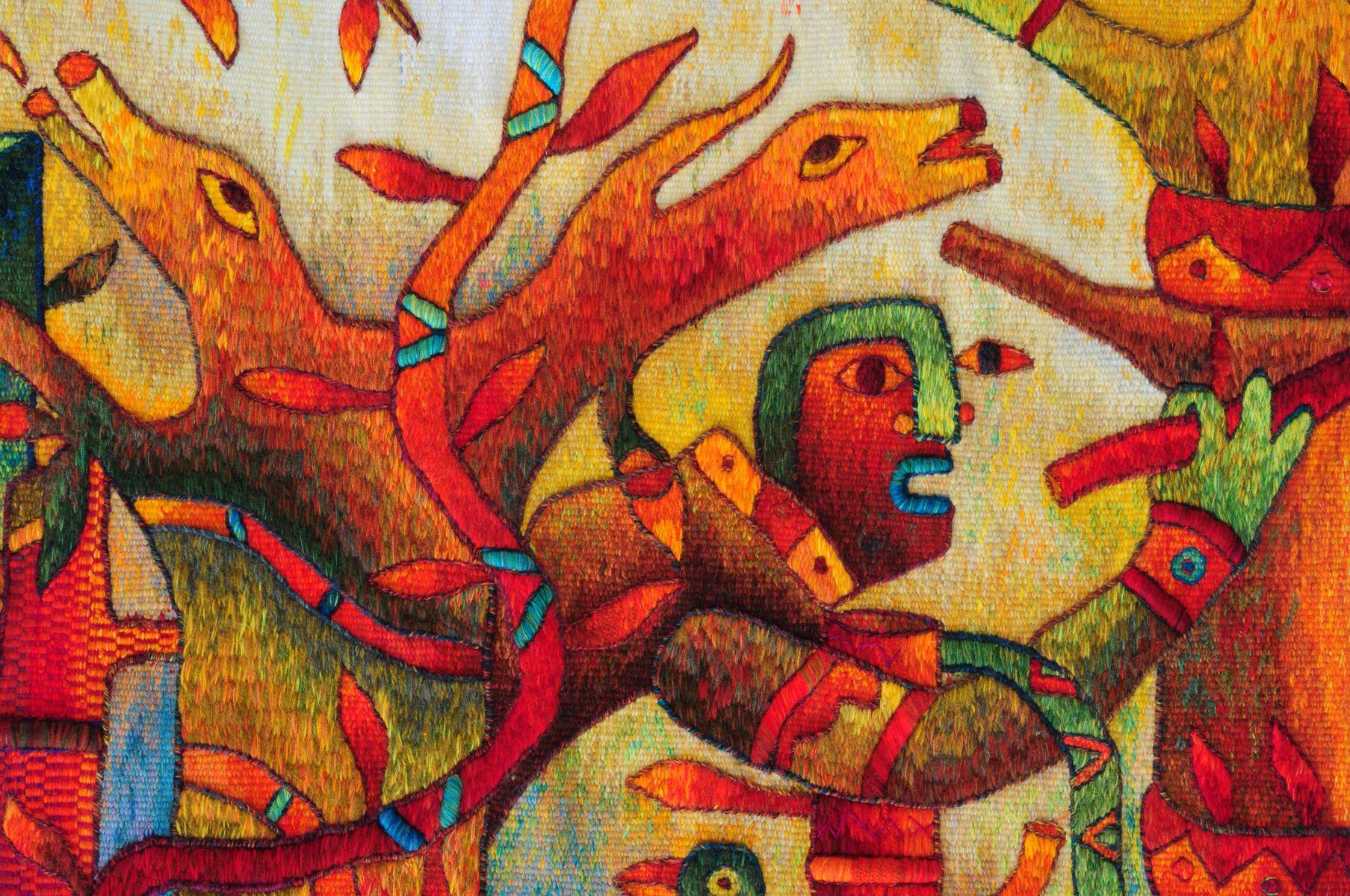 Mayor Spirit - Award Winning Tapestry by Maximo Laura - Tapestry Detail