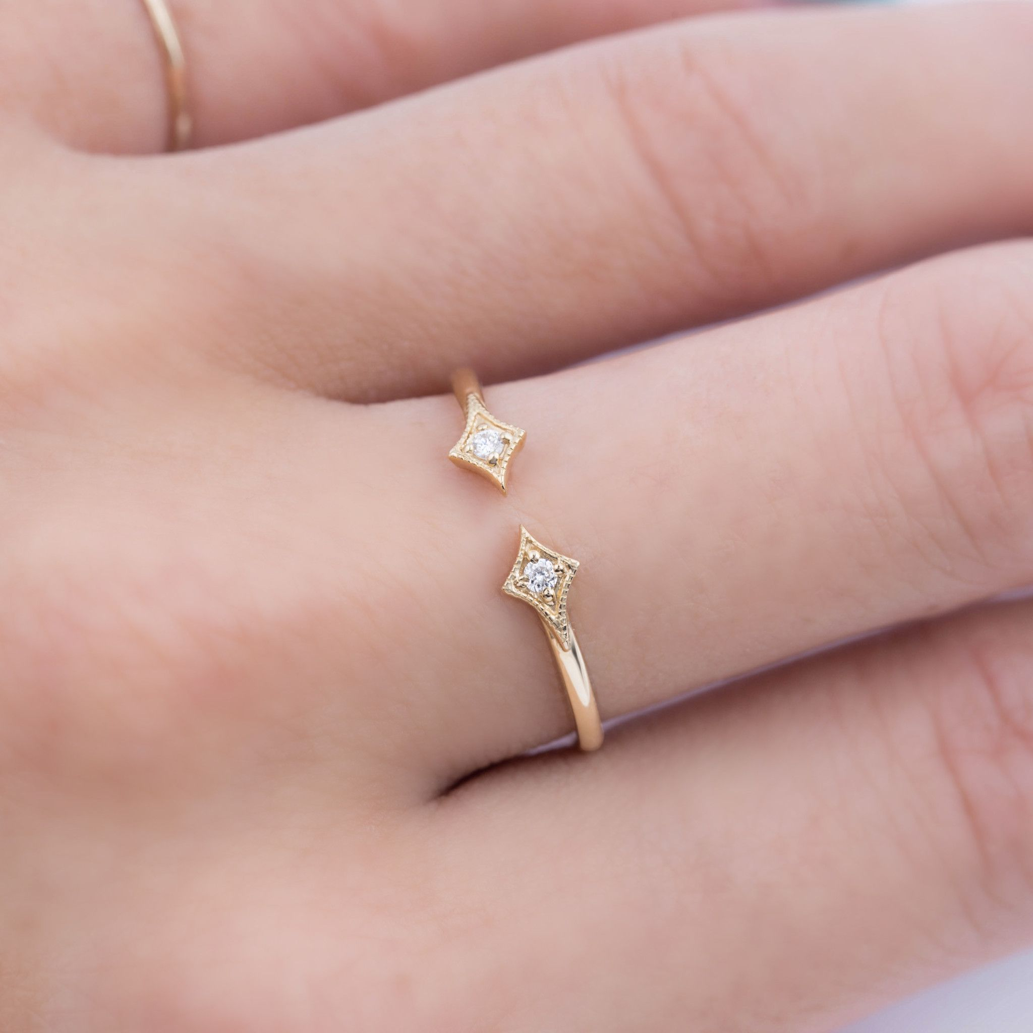 Double Star Diamond Ring | Pinterest | Star ring