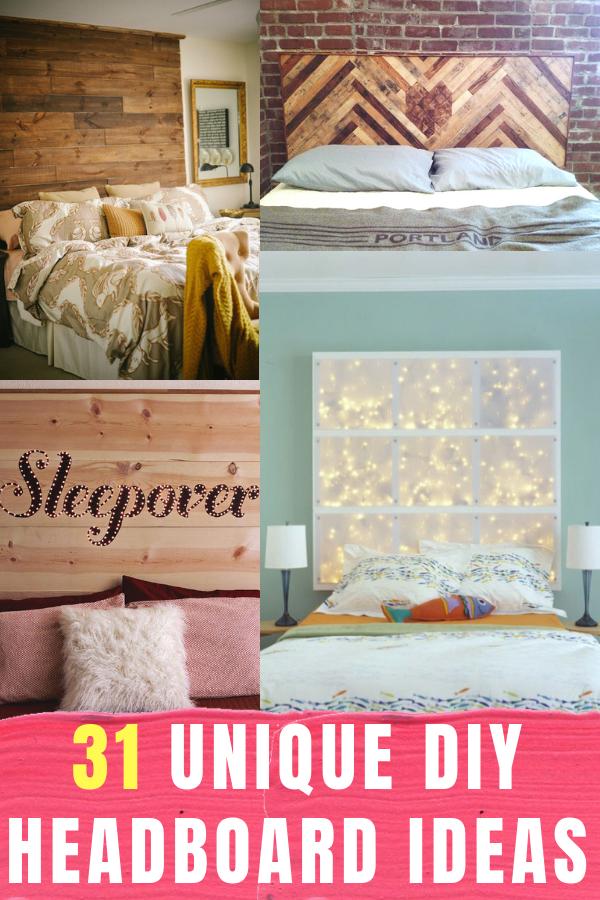 31 Unique Diy Headboard Ideas Diy Headboards Unique Home Decor Bedroom Diy