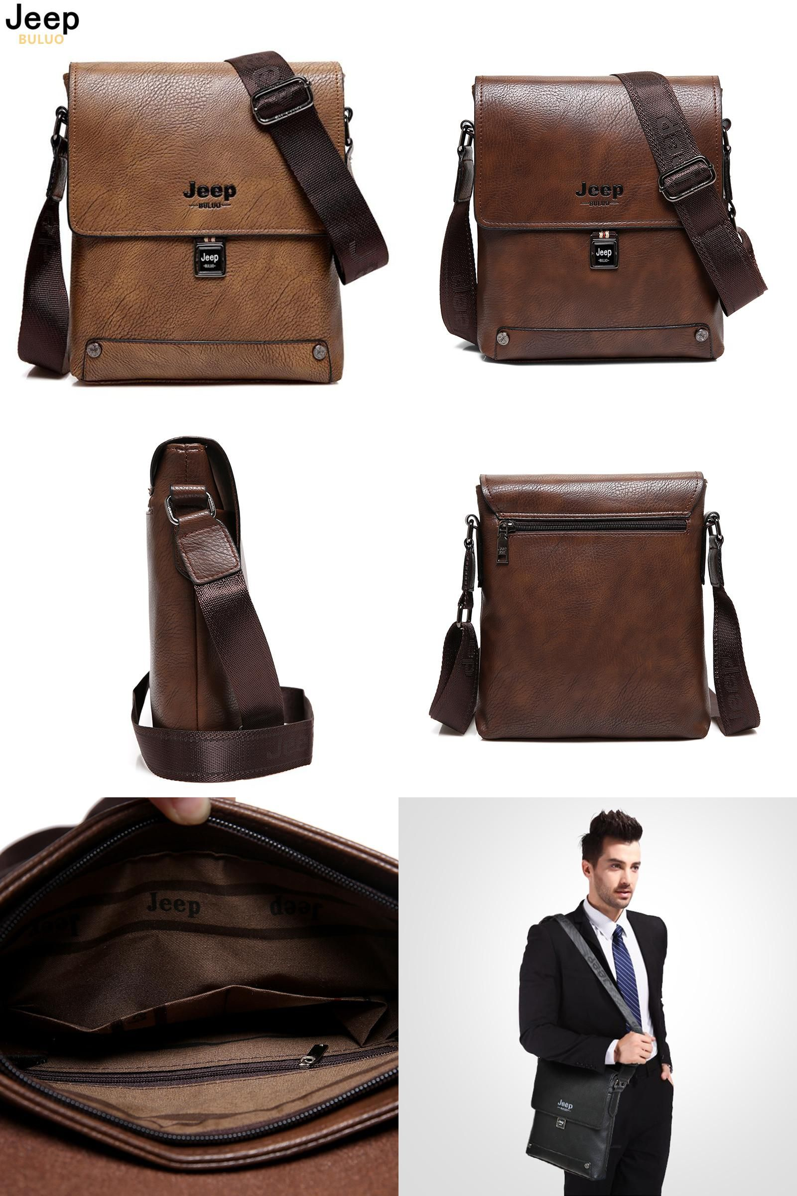 73308dae51  Visit to Buy  JEEP BULUO Famous Brand Bag Man Business Briefcase Man s  High Quality
