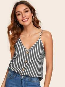 Button Front Striped Cami Top 6.00 USD #stripedcamitops Button Front Striped Cami Top 6.00 USD #stripedcamitops
