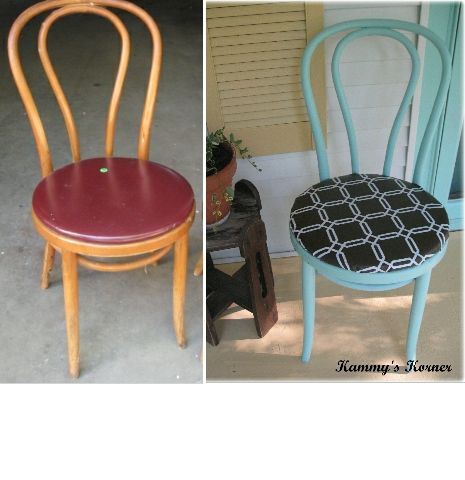Kammyu0027s Korner: Aqua Porch Chairs Great Idea To Use Vinyl Tablecloth To  Cover Chair!