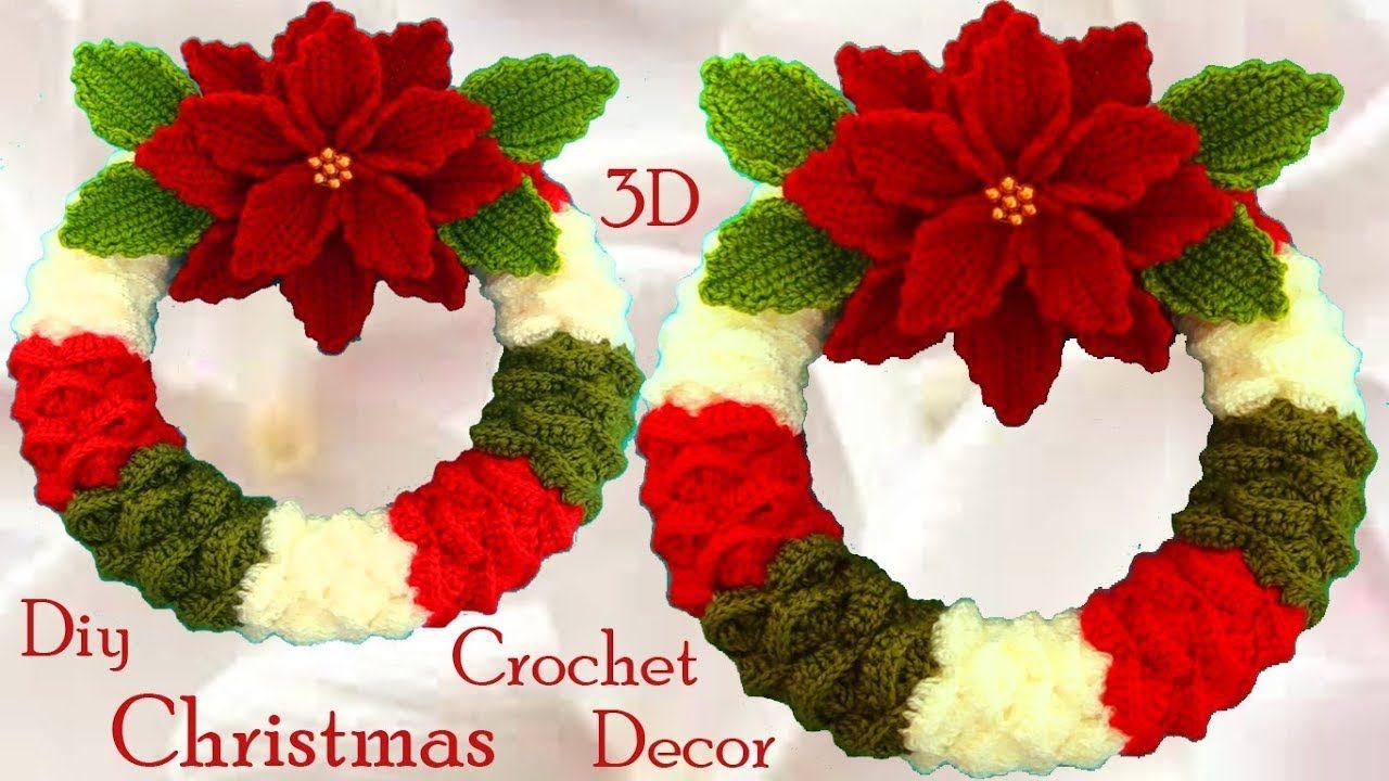Como hacer corona de Navidad marshmallows y flores Nochebuena a ...