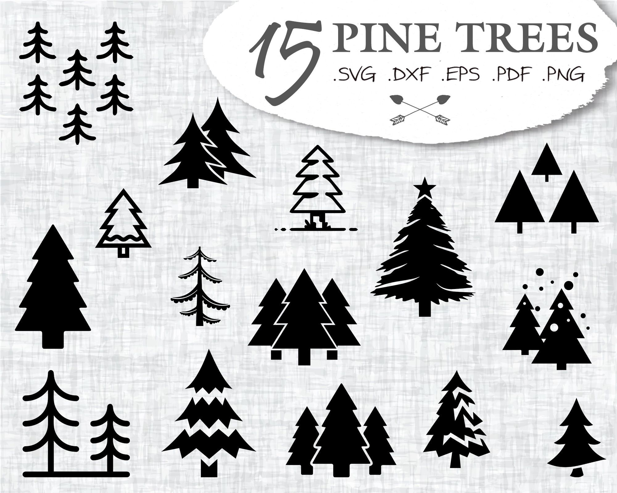 Download PINE TREES SVG, pine tree svg, forest svg, christmas tree ...