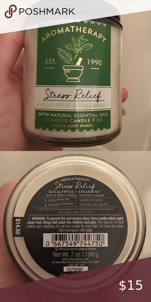 Aromatherapy Stress Relief Candle Bath And Body Wo Brand New Never Used Bath And Body Works Singl In 2020 Aromatherapy Stress Relief Stress Relief Candle Bath And Body
