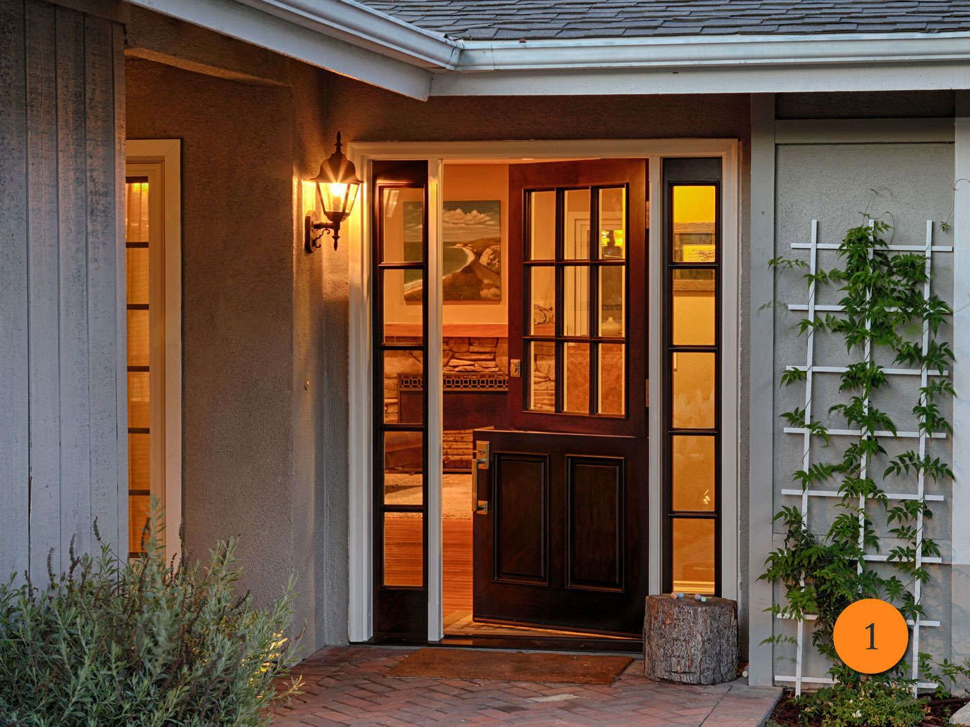 Jeldwen Aurora Fiberglass Dutch door with sidelights. Model A-5944 ...
