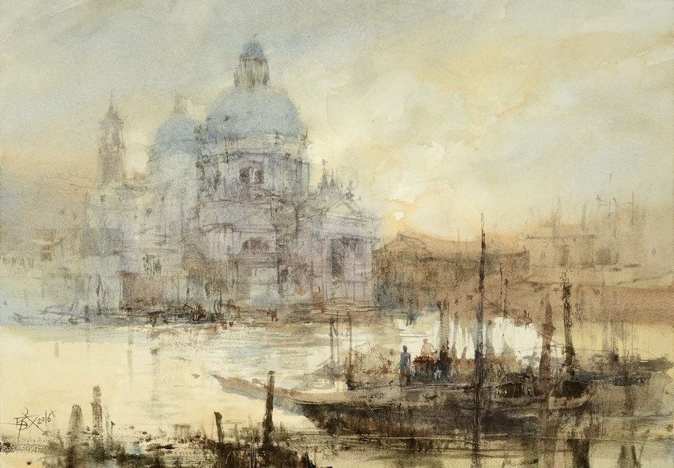 Watercolor By Chien Chung Wei Venice In Turner S Style Chien