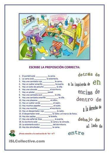 Preposiciones Grammaire Espagnole Espagnol Apprendre Vocabulaire Espagnol