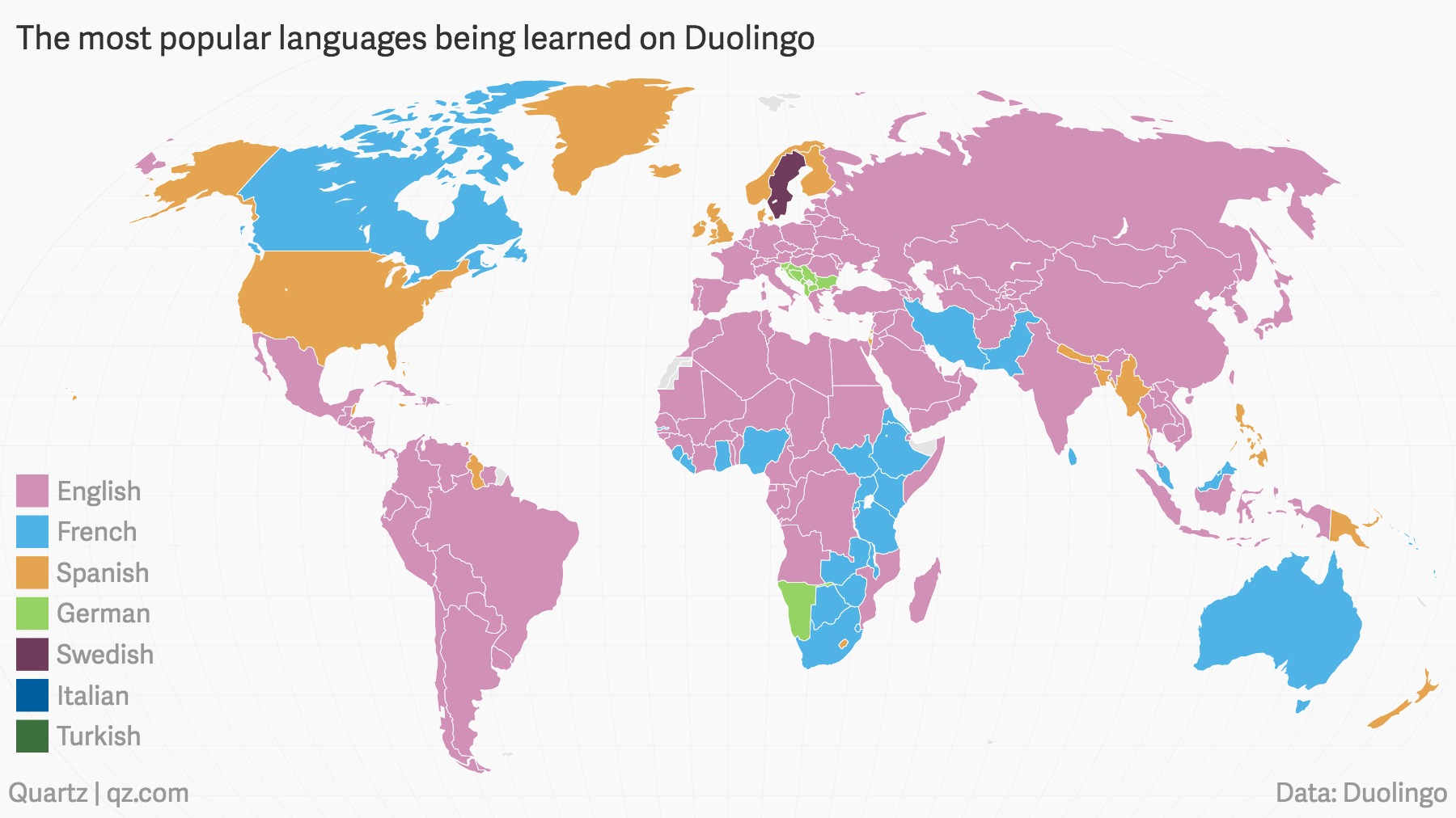 The languages the world is trying to learn according to duolingo world map stencil gumiabroncs Image collections