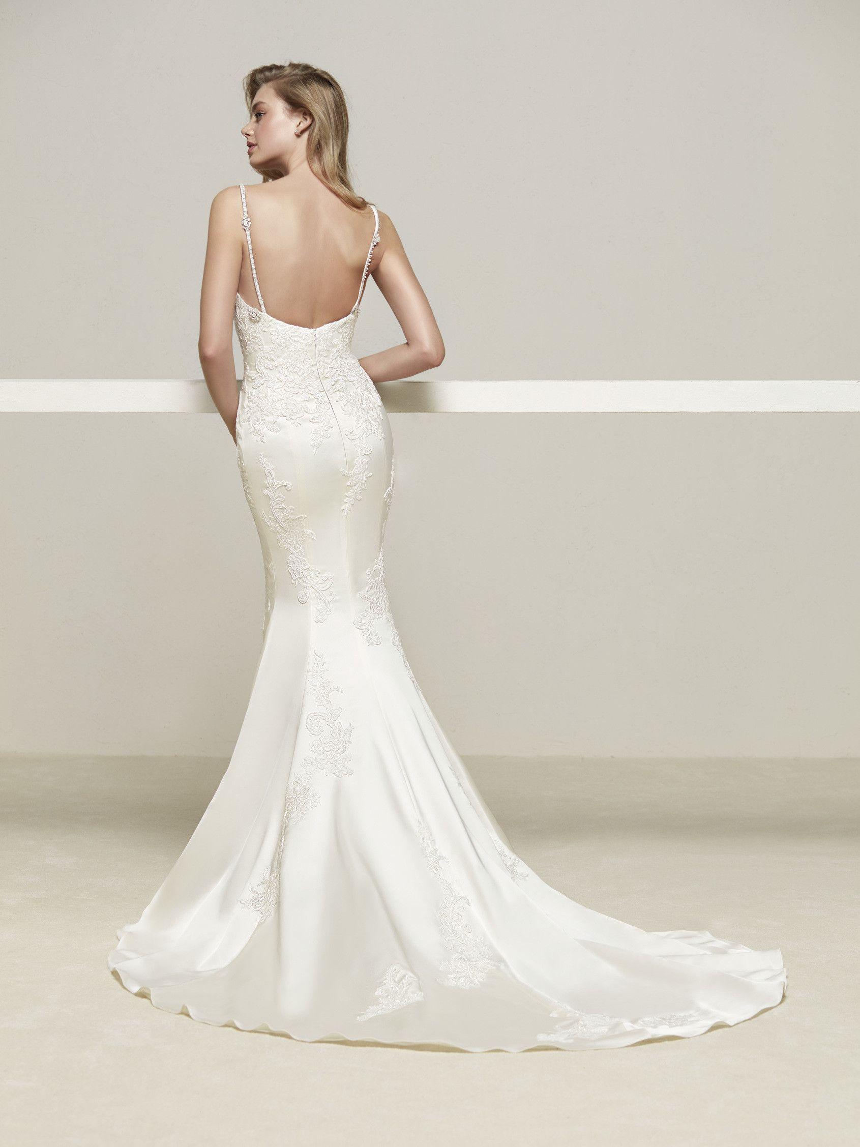 Vestido novia tirantes finos