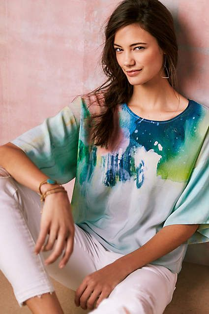Aquarelle Silk Blouse - anthropologie.com #anthrofave
