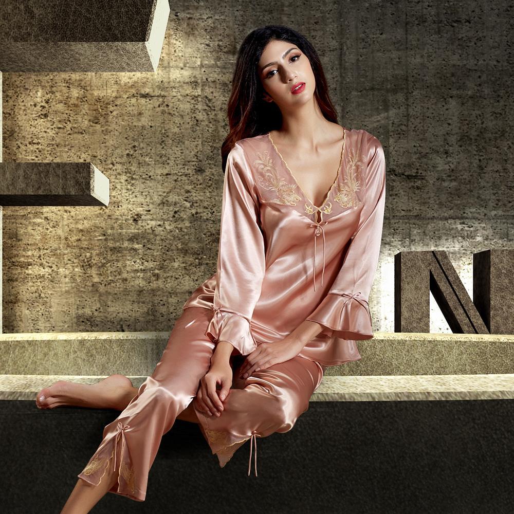 fbc9192860b3 Isabelle Lust Luxurious Embroidery Satin Pajama Set