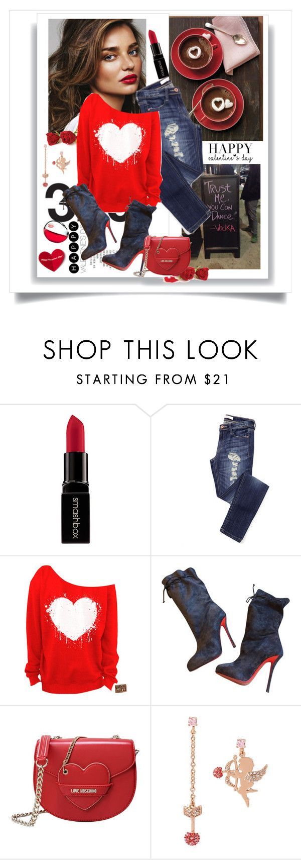 """Valentine's Date.................."" by style-stories ❤ liked on Polyvore featuring Kerr®, Smashbox, Christian Louboutin, Love Moschino, DKNY and Betsey Johnson"