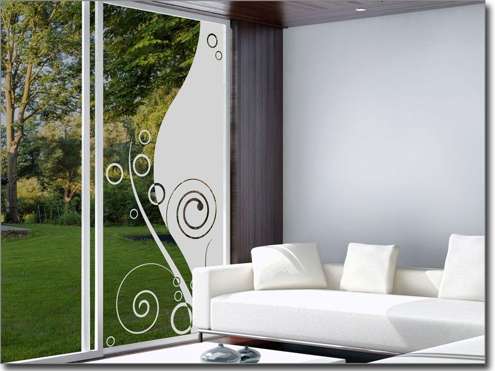 Blickdichte Glasfolie Glasornament Modern Sichtschutzfolie mit