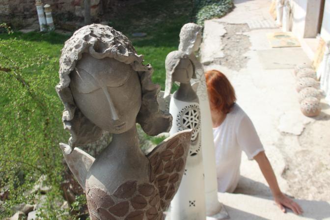 zu straková Ceramic angels, Ceramics, Figurines