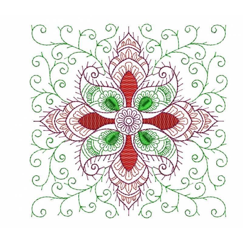 Floral Placemat Embroidery Design Freebie Masjien Borduur